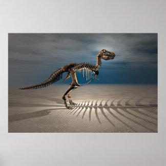 Poster del esqueleto del dinosaurio del rex del T.