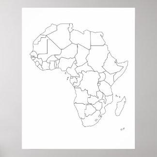 Poster del esquema del mapa de África