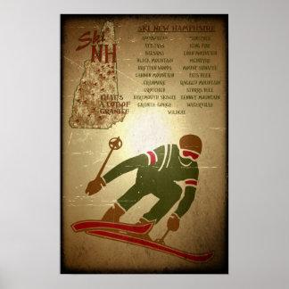Poster del esquí de la apariencia vintage del NH d