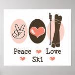 Poster del esquí del amor de la paz