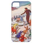 Poster del esquí del vintage, Arlberg, St Antón iPhone 5 Protectores