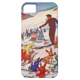 Poster del esquí del vintage, Arlberg, St Antón iPhone 5 Carcasa
