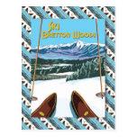 Poster del esquí del vintage, esquí Bretton Woods Postal