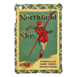 Poster del esquí del vintage, esquís de la tierra