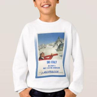 Poster del esquí del vintage, Italia, cortina de Sudadera