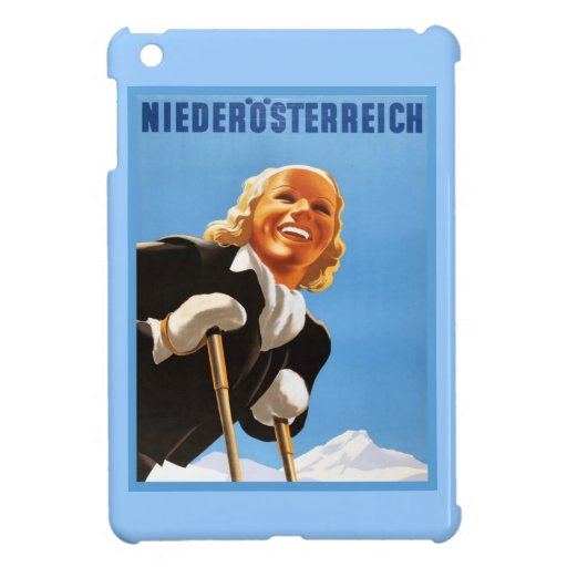 Poster del esquí del vintage, Niederosterreich iPad Mini Protectores