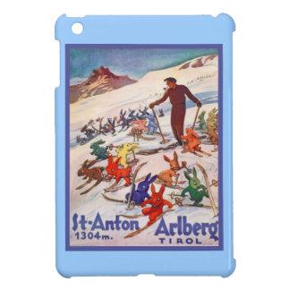 Poster del esquí del vintage, St Antón, Arlberg, e