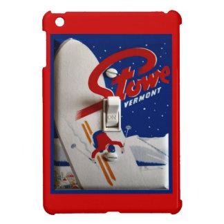 Poster del esquí del vintage Stowe Vermont iPad Mini Funda