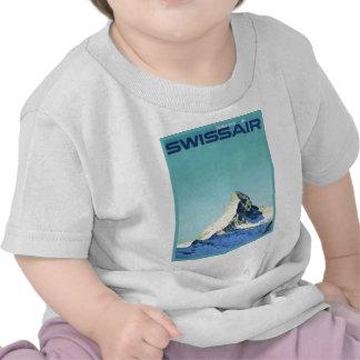 Poster del esquí del vintage, Swissair, Zermatt, C Camisetas
