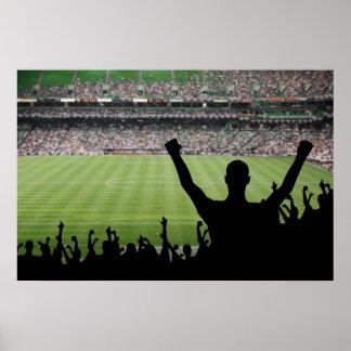 Poster del estadio de los aficionados al fútbol