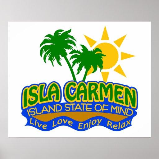 Poster del estado de ánimo de Isla Carmen