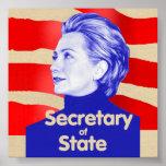 Poster del estado de Hillary