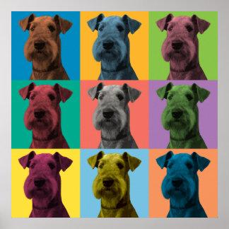 Poster del Estallido-Arte de Airedale Terrier