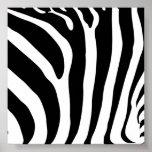 Poster del estampado de zebra