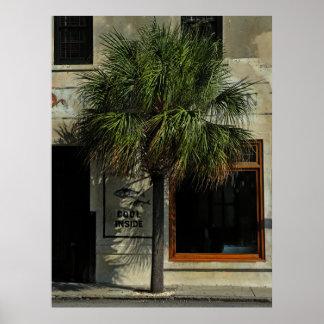 Poster del estándar del Palmetto de Charleston