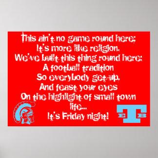 Poster del este del fútbol de Beauregard