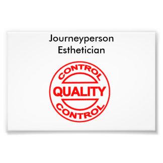 Poster del Esthetician de Journeyperson Fotografía