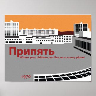 Poster del estilo de la propaganda de Pripyat