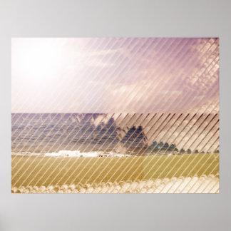 Poster del extracto de la playa del obturador
