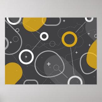 Poster del extracto de la raza del espacio