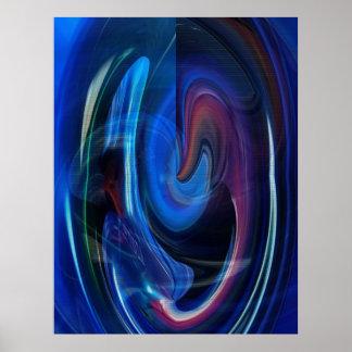 Poster del extracto de la velocidad de la deformac póster
