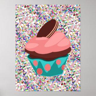 Poster del extracto del arte de la torta de la