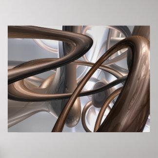 Poster del extracto del remolino del chocolate póster