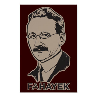 Poster del FA Hayek