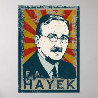 Poster del FA Hayek Póster
