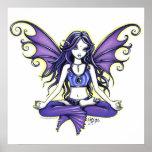 "Poster del Faery de la yoga de ""Lotus violeta"""