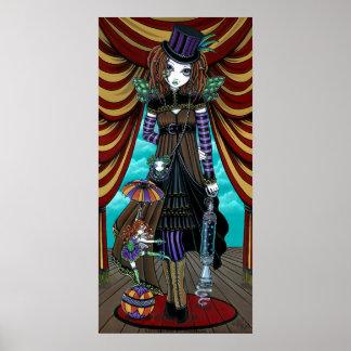 Poster del Faery del circo de Steampunk del Victor