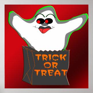Poster del fantasma de la Truco-o-Invitación