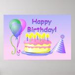 Poster del feliz cumpleaños