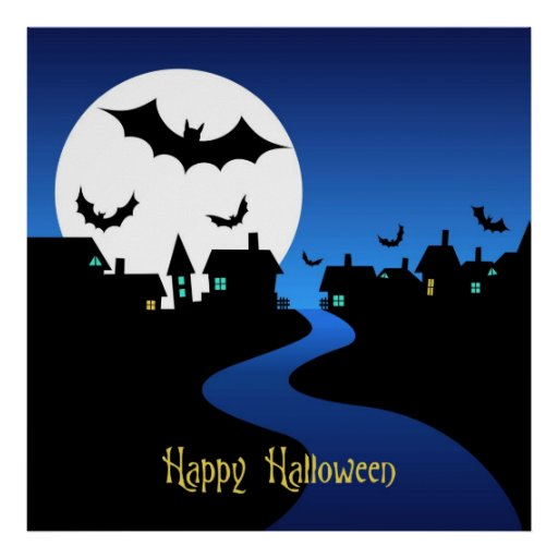Poster del feliz Halloween