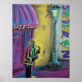 Poster del Fest del jazz de New Orleans