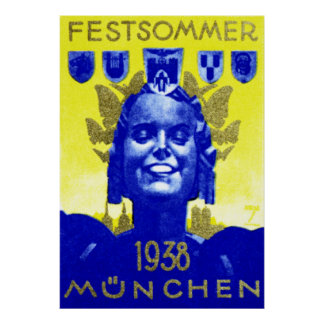 Poster del Fest del verano del vintage