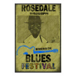 Poster del festival de los azules de la orilla