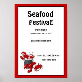 Poster del festival del cangrejo de la langosta de