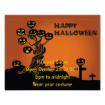 Poster del fiesta de Halloween