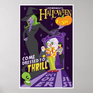Poster del fiesta de Halloween de Esmeralda