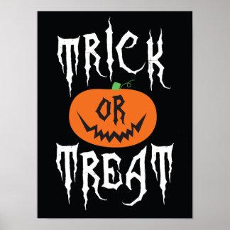 Poster del fiesta de Halloween de la calabaza del