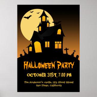 Poster del fiesta de Halloween de la casa