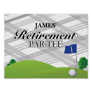 Poster del fiesta de retiro del golf