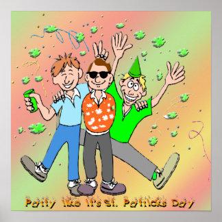 Poster del fiesta del día de St Patrick Póster