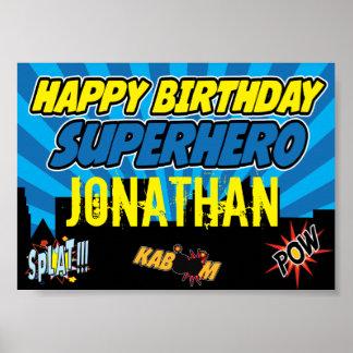 Poster del fiesta del super héroe póster