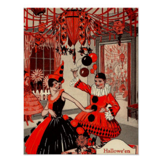 Poster del fiesta del traje de Halloween