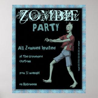 Poster del fiesta del zombi