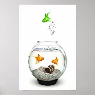 Poster del forastero de los pescados del oro