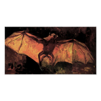 Poster del Fox de vuelo de Van Gogh