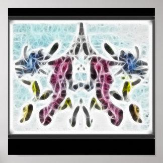 Poster del fractal de Rors diez Póster